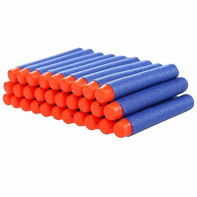 Lot 100pc Blue Foam Dart Bullet Round Head - NERF N-Strike Compatable