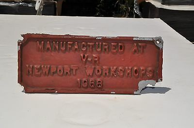 V.R. carriage builders plate