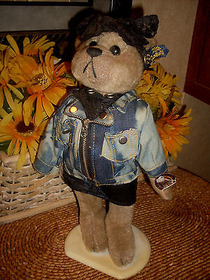 Roxy 1980's Brass Button Bear 20th Century Collection With Stand Tags Attached