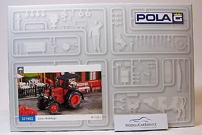 Pola 1:22,5 (G): 331902 Lanz Bulldog D 9506, red, with Canopy - Kit