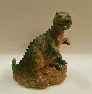 1987 Tyrannosaurus Rex  Blow Mold Bank Small World Importing Co. 6X5.5""