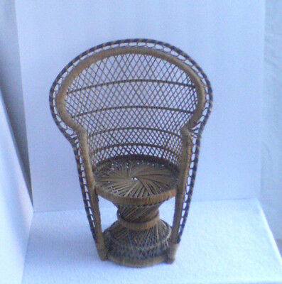 Vintage Wicker Doll Chair  /  Used