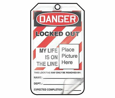 ACCUFORM SIGNS Lockout Tag,  Plastic MLT609LPp Packs of 25