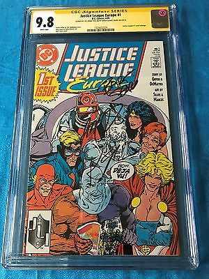 Justice League Europe #1 - DC - CGC SS 9.8 - Signed by Sears DeMatteis Giffen