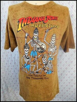 Vintage Cotton 1990s Indiana Jones Adventure Forbidden Eye Ride Disney T-shirt