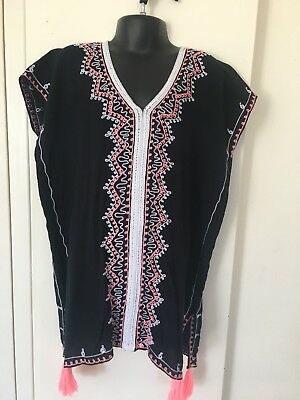 Girls Kaftan Black,1st Quality Rayon Perfect for Xmas, any Occasion,Ages 4-6yrs