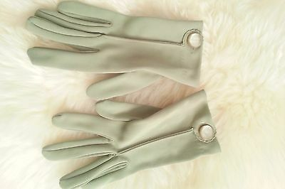 Small Green Vintage Gloves
