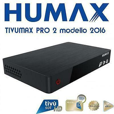 DECODER SATELLITARE HUMAX 80990H TV TIVù TIVU' SAT HD PVR TIME SHIFT INFINITY