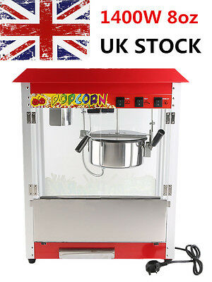 8Oz 1400W Red Commercial Electric Pop Corn Maker Popcorn Machine Popper Party SY
