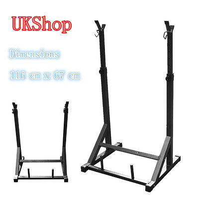 Olympic Squat Rack Stands Barbell Muscle Adjustable Press Weight Bench SY