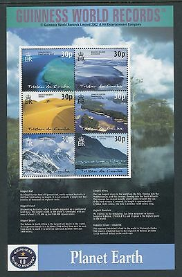 Tristan da Cunha 2003 World Geographical Records sheetlet of 6