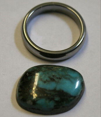 Natural Arizona Turquoise Loose Gemstone 16X22Mm 13Ct Freeform Cabochon Gem Tq33