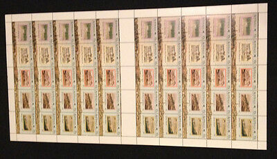 Rare Not Folded Full Sheet of 50 MNH 1988 Early Years 37c stamps