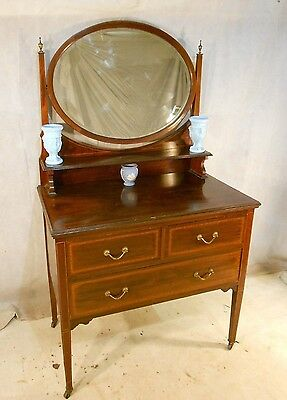 ANTIQUE VICTORIAN SUPERIOR QUALITY MAHOGANY DRESSING TABLE c1880-1900 CHEST