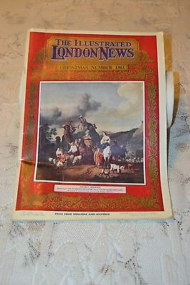 The Illustrated London News Christmas Number 1961 Magazine Nice Advertisment Car