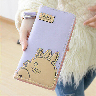 Anime Totoro Zipper Cartoon Fashion Women Long Wallet Coin Purse Clutch Bag Gift
