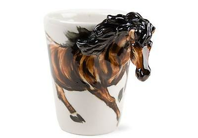 Blue Witch 3D Horse, Ceramic Hand Crafted Coffee Mug