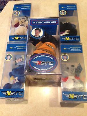 Sealed Full Set of NSYNC Limited Edition Rare Bear Cubs with Tags New in Box