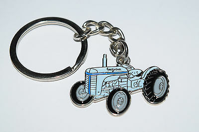 Ferguson T20 Grey Tractor Keyring Farming Gift Collectable Massey Enamel