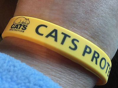 CATS PROTECTION YELLOW WRISTBAND New (SOLD FOR CATS PROTECTION)