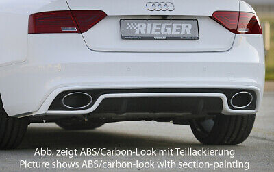 Rieger Diffusor Heckeinsatz RS5 Look A5 8T B8 Facelift Coupe Cabrio Carbon-Look