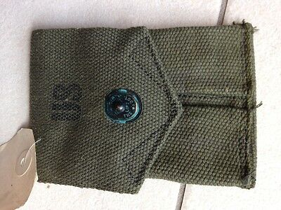 US Army Canvas Pistol Ammo Pocket Mag Pouch 1911 Cal 45 NEW with Tag