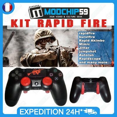 Manette Originale gamepad PS4 Rapide Fire modée modded COD BLACK OPS 3 GHOST AW