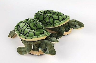 Turtle Slippers - Green Animal Slippers - Adult & Kids Sizes In Stock