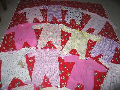 Infant Clothing Lot 90 + Pc. Nb, 0-3 Mos Girl Sleepers, Gowns & 1 Pc.outfits Etc