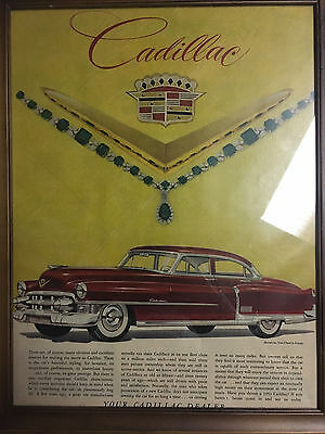 Original Cadillac ad from 1953 Life Magazine, Framed