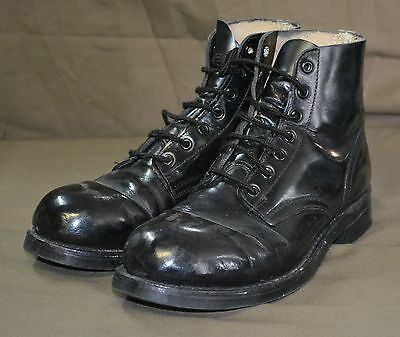 Used Canadian military parade ( work ) boots size 7 Steel Toe  ( Z7 )