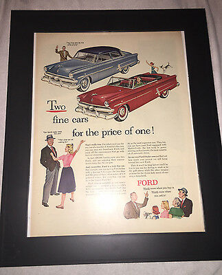 Original Ford 1953 Life Magazine Advertisement, Framed