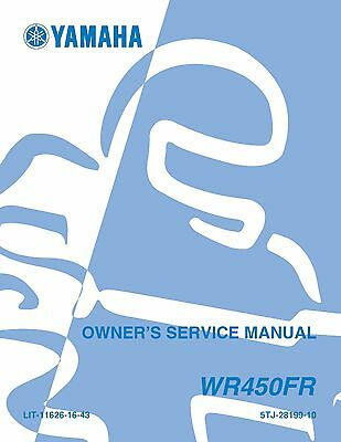 Yamaha owners service manual 2003 WR450F(R)