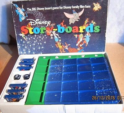 Disney Storyboard Game By Paul Lamond Games 1980's Complete And Boxed