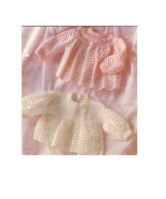 Vintage Knitting & Crochet Pattern Copy - For  Baby's Angel Tops In 3Ply