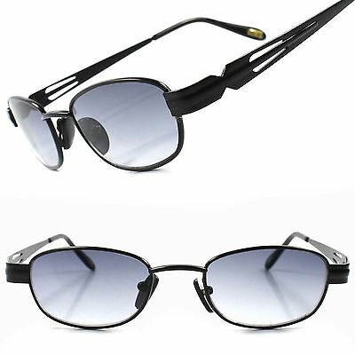 a6f12657c41a Old Fashion Vintage Retro 80s Hip Mens Womens Black Rectangle Hipster  Sunglasses