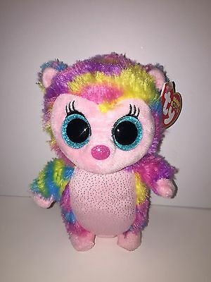 Ty Holly Multi Colored Hedgehog Beanie Boos New, Mint Tags,hard To Find*fun*