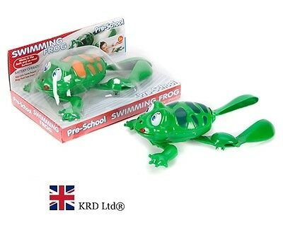 GREEN SWIMMING FROG Kids Bath Time Pool Baby Toy Christmas Gift Stocking Filler