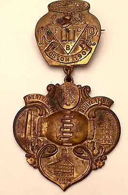Vintage Knights Of Pythias Medal 1908 Boston 25th Annual Convention Beanpot Old