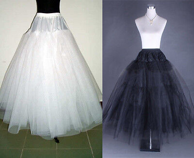 Plus size/Regular White / Black 3 Layers Wedding Petticoat Underskirt Crinoline