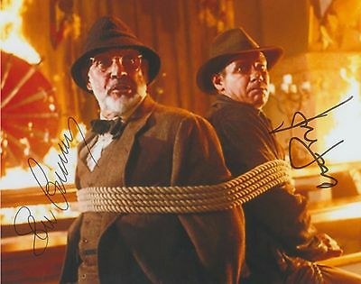 Indiana Jones & the Last Crusade Harrison Ford Sean Connery DUEL-SIGNED RP 8x10