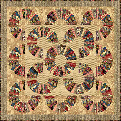 Pumpkin Pie Quilt Kit by Laundry Basket Quilts for Moda