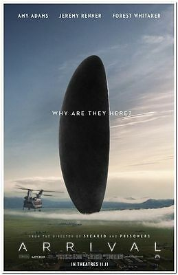 ARRIVAL - 2016 - Original 27x40 ADV Movie Poster - AMY ADAMS, JEREMY RENNER