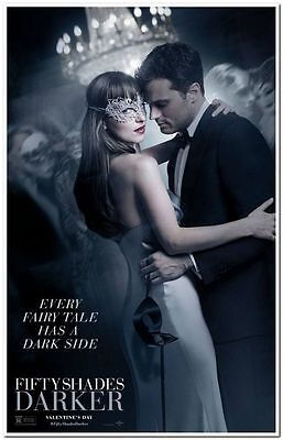 "FIFTY SHADES DARKER -2017- original 27X40 ADVANCE ""A"" Movie Poster- JAMIE DORNAN"