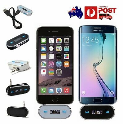 Audio Plug Car MP3 FM Transmitter for iPhone 6S Plus 6 5S Samsung S7 edge S6 S5