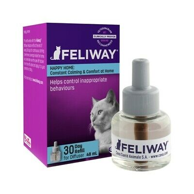 Feliway 48mL Diffuser Refill Bottle - Pheremone for Cat Anxiety - Genuine Ceva