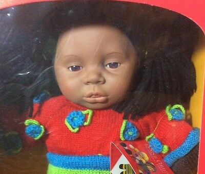 Vintage 1999~ANNE GEDDES~Baby Doll Collection~African American~RELDA~New in Box