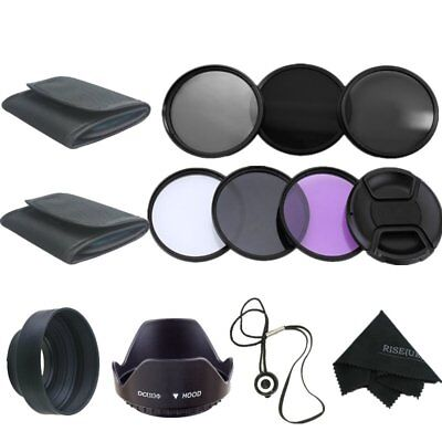52MM Filter Kit UV CPL FLD + ND 2 4 8 Set for Canon Nikon Sony DSLR Camera Lens