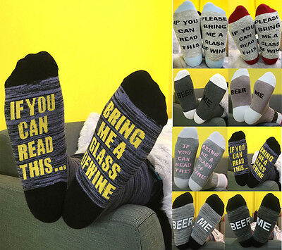 Custom wine Beer socks If You can read this Bring Me a Glass of Wine Multi Color