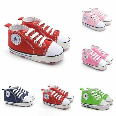 Newborn Infant Baby Toddler Sneakers Boys Girls Soft Sole Crib Shoes 0-18 Months
